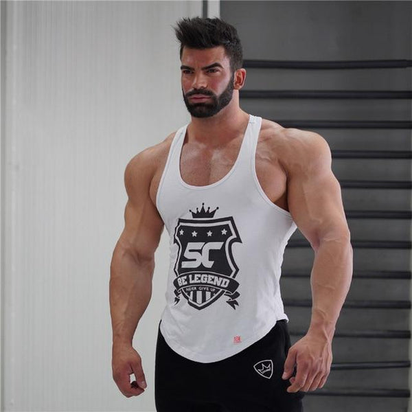 High Quality Sport Running Vest Men Fitness Tops Gym Sport T Shirt sleeveless Workout Running men Tank Top Bodybuilding Clothing