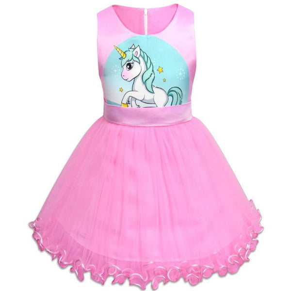 Girl dress unicorn dresses little girls clothing baby girl clothes princess party clothing kids dress