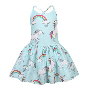 girl dress unicorn dresses elsa little girls clothing baby girl clothes princess party clothing kids  dress