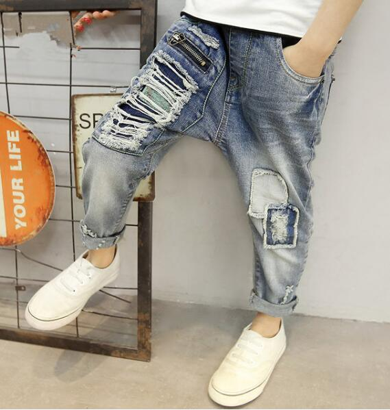 children's spring jeans. Boy's fashion jeans, spring and autumn Boy's jeans. Suitable age: 5 7 8 10 12 14  years old