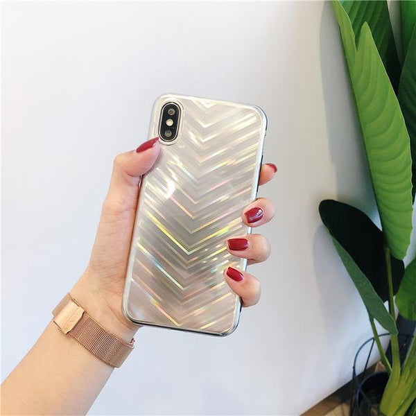 Luxury Glossy E-plated Phone Case for Iphone X 7 8 6 6S Plus Glitter Plain Fashion Fundas for Iphone Xs Max Xr Fitted Case