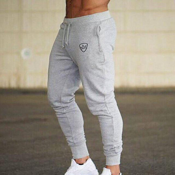 Men Brand Joggers Sweatpants Fashion Casual Gyms Workout Fitness Sportswear Pants Breathable Cotton Trousers Male Pencil Pants