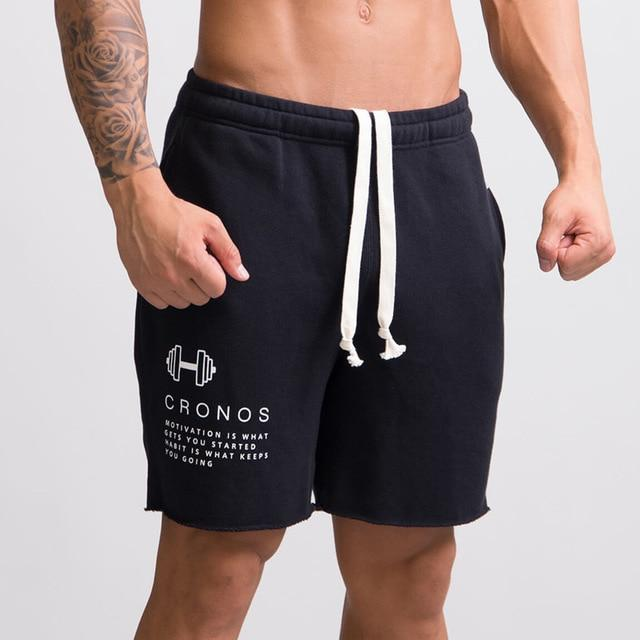 Men Casual Cotton Shorts Man Calf-Length Gyms Fitness Jogger Workout Bodybuilding Slim Short Pants Summer Male Beach