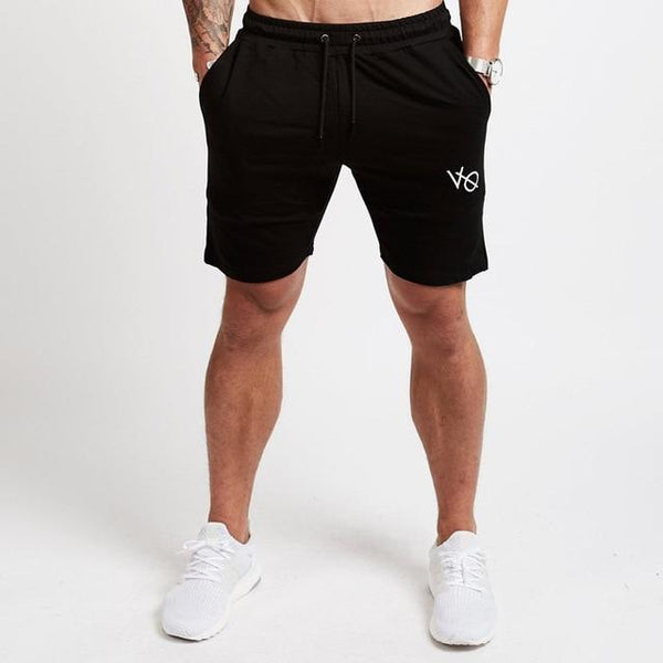 Men Casual Cotton Shorts Man Calf-Length Gyms Fitness Jogger Workout Casual Slim Short Pants