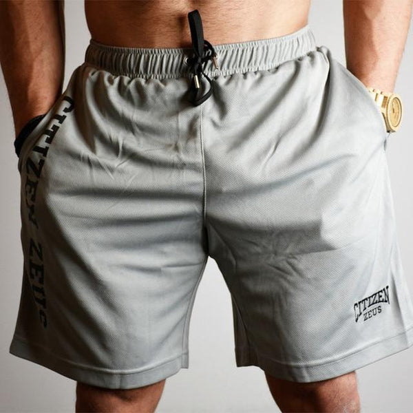 Men Fitness Shorts Summer Loose Gyms Bodybuilding Joggers Beach Short Pants Male Crossfit Workout Brand Knee Length Sweatpants