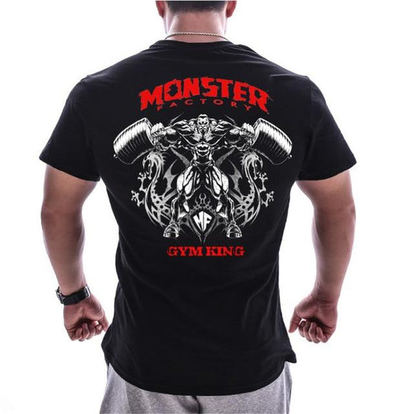 Bodybuilding & Workout Print Cotton Short sleeve T-shirt For Men