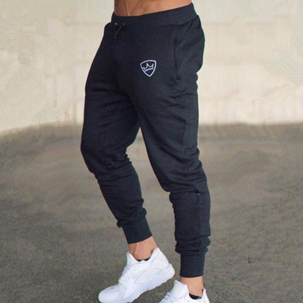 Men Gyms Fitness Sweatpants New Cotton Slim Drawstring Trousers Mens Jogger Workout Pant Casual Brand Solid Pencil Pants