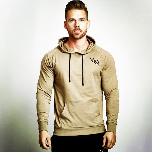 Mens Cotton Bodybuilding Hoodies Sweatshirts Pullover Autumn Man Gyms Fitness Jogger Workout Brand Sportswear Male Casual Tops
