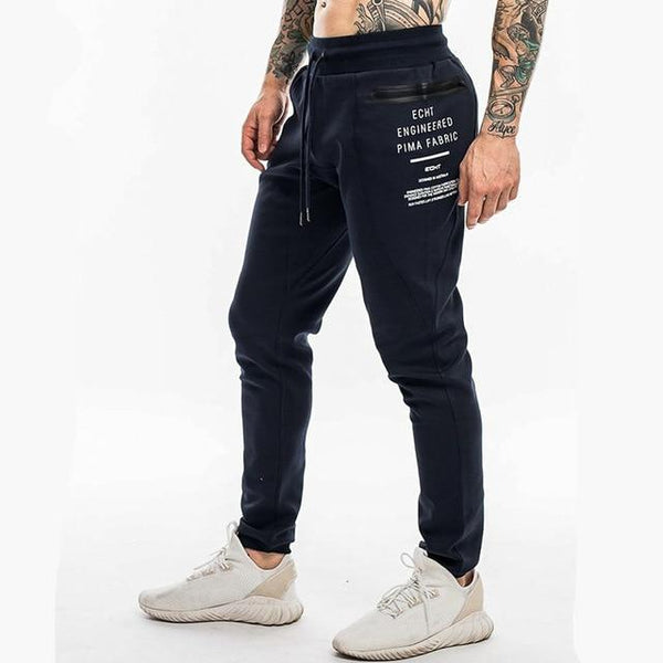 Men's Cotton Joggers Sweatpants Man Gyms Fitness Workout Slim Trousers Male Casual Fashion Letter Print Brand Pants Sportswear