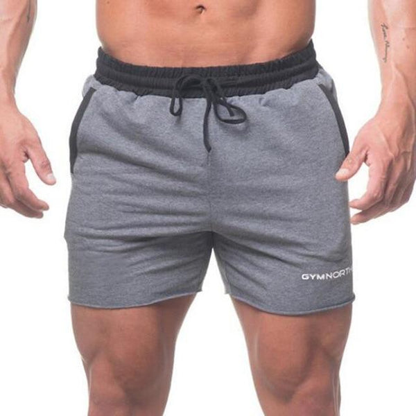 Mens Summer Slim Short Cotton Patchwork Shorts Gym Fitness Bodybuilding Jogger Casual Brand Beach Workout Shorts