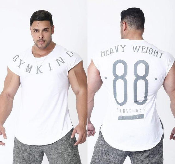 Men Run Jogging Sports Cotton T-shirt for Fitness and bodybuilding