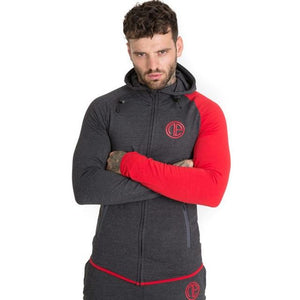 Mens Skinny Hoodies Sweatshirts Male Gyms Fitness Bodybuilding Joggers Sportswear Casual Fashion Cotton Zipper Jacket Tops Coats