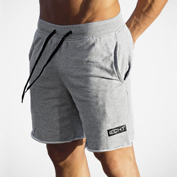 Mens Summer Cotton Slim shorts Calf-Length Fitness Bodybuilding Male Jogger Casual Workout Brand short Pants Beach Sweatpants