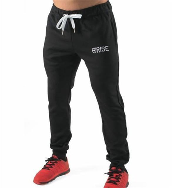Mens cotton Sweatpants Autumn Winter Man Gyms Fitness Bodybuilding Joggers trousers Male Casual fashion Drawstring Pencil Pants