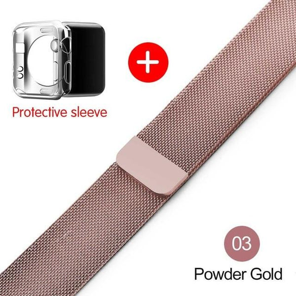 Loop For Apple Watch band strap 42mm/38mm iwatch4/3/2/1Stainless Steel Link Bracelet wrist watchband magnetic buckle