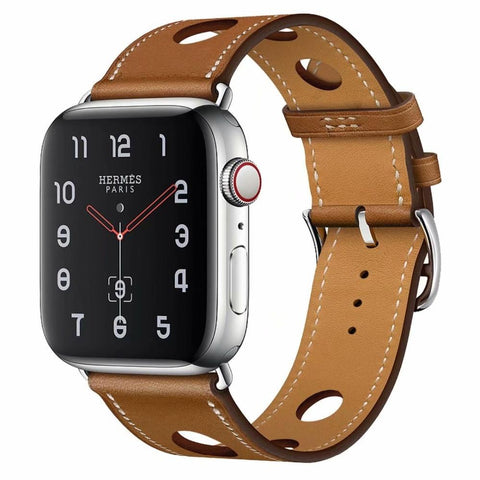 New Arrival Single Tour Leather Loop for Apple Watch Band  42mm 38mm 40mm 44mm Three Holes Strap for iWatch Series 1 2 3 4