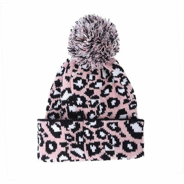 New Fashion Women Beanie Hat Leopard women Cap Spring Autumn Winter ladies' Hats Caps Leopard Print Knitted Winter Female Hat