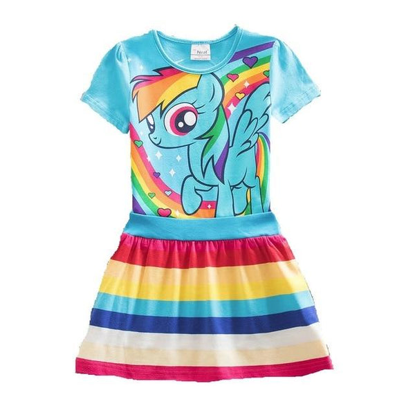 New Hot Sale My Baby Girl Dress Children Girl little Pony Dresses Cartoon Princess Party Costume Kids Clothes Summer Clothing
