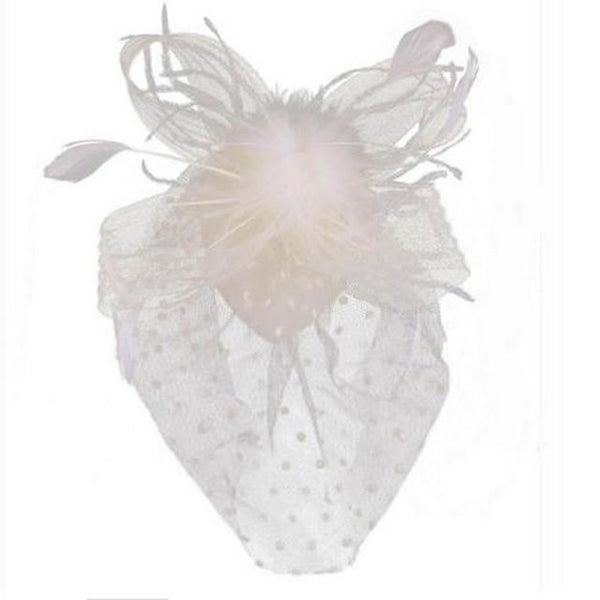 New style hot sale Party Fascinator Hair Accessory Feather Clip Hat Flower Lady Veil Wedding Decor