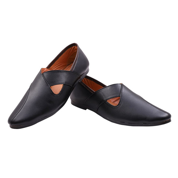 Treemoda Black Ethnic Mojari for Men/Boys
