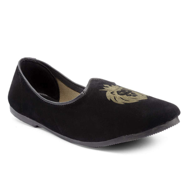 Treemoda Black Suede Juttis for Men/Boys
