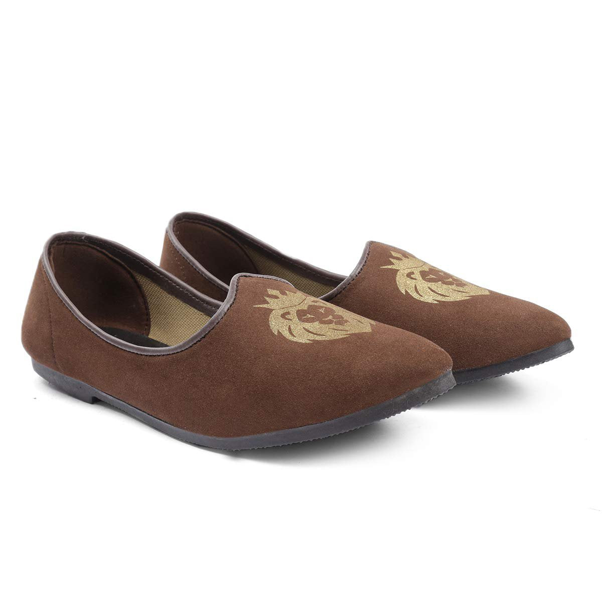 Treemoda Brown Suede Juttis for Men/Boys