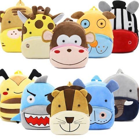 Plush Children Backpacks Kindergarten Schoolbag 3D Cartoon Monkey Animal Kids Backpack Children School Bags for Girls Boys