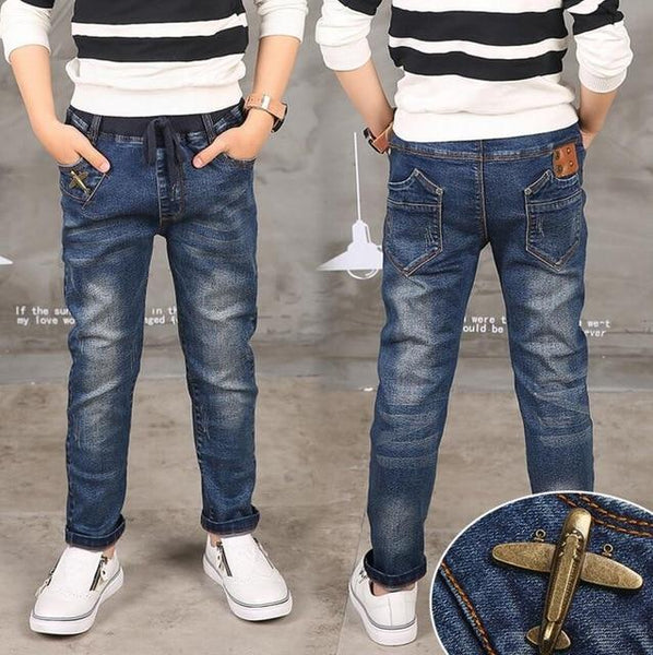 Spring Autumn Boys Jeans Trousers Cowboys Kids Clothes Baby Boy Denim Casual Pants