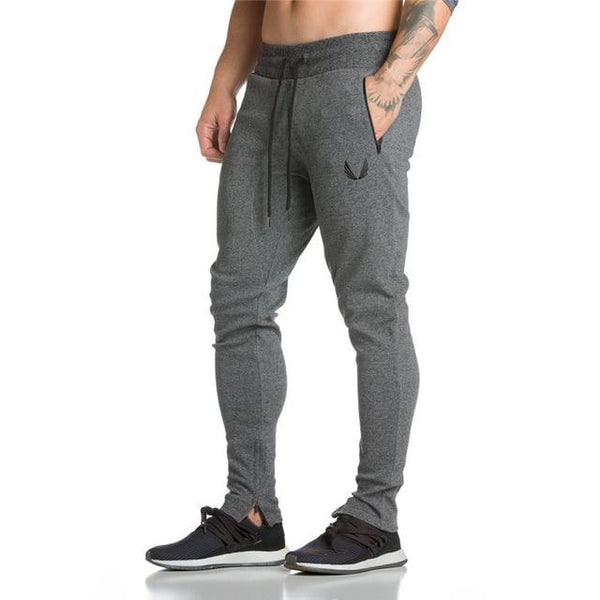Mens Fitness Sweatpants Pant Male Bodybuilding Drawers Cotton Elastic band Solid color trousers Pencil pants for men