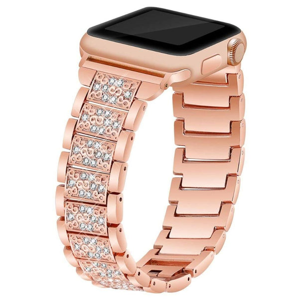 Strap For Apple Watch Rose Gold Stainless Steel Bracelet for Apple Watch Bands 42mm Straps