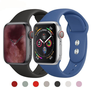 Strap For Apple Watch band 4 3 iwatch band 42mm 38MM / 44mm 40MM Bracelet sport silicone wrist watch Accessories