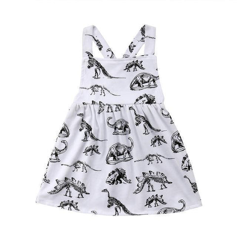 Summer Girls Clothing Girl Dress Children Kids Dinosaur Dress Backless Dress Girls Cotton Kids Vest dress Children Clothes