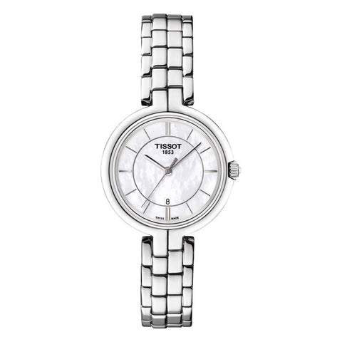 Tissot Flamingo Mother of Pearl Dial Stainless Steel Women Watch T094.210.11.111.00