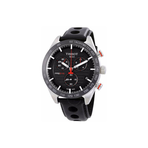 Tissot PRS 516 Chronograph Black Dial Men Watch T100.417.16.051.00