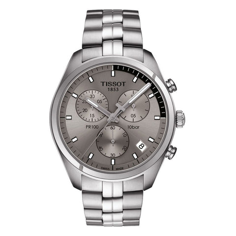 Tissot PR100 Chronograph Grey Dial Men Watch T101.417.11.071.00