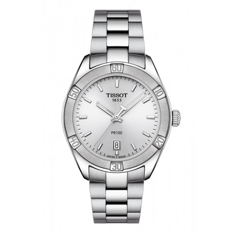 Tissot PR100 Silver Dial Stainless Steel Women Watch T101.910.11.031.00