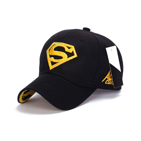 Yellow Superman Embroidered Baseball cap