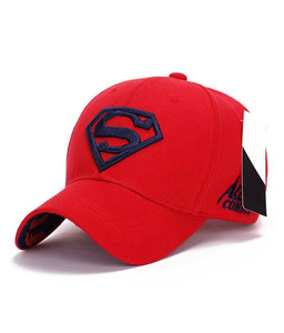 Red Superman Embroidered Baseball cap