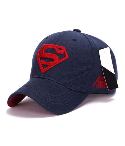 Blue Superman Embroidered Baseball cap