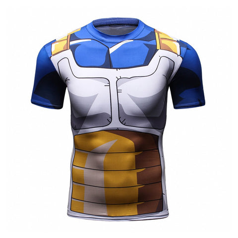 Vegeta Gym Compression Dragon Ball Z T-Shirt
