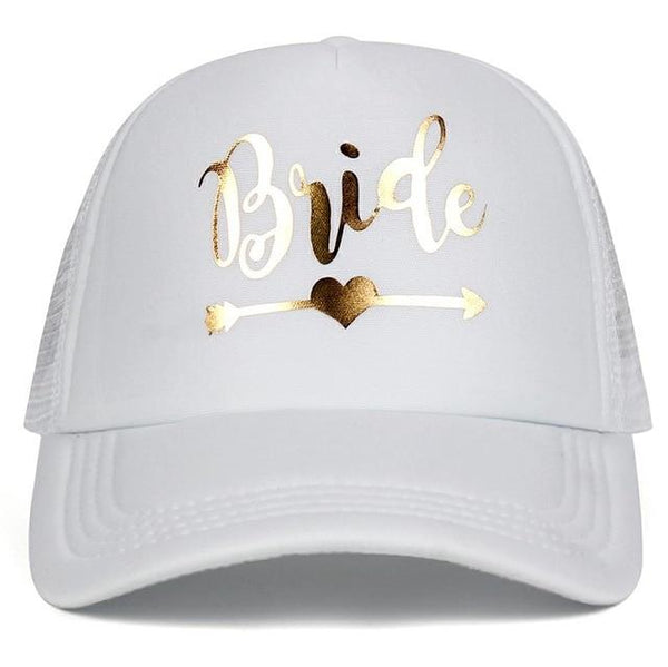Team Bride Tribe Squad Baseball Cap Mesh Hat BRIDE Gold Print Woman Party Holiday Ready to Get Married Snapback Wedding Hats