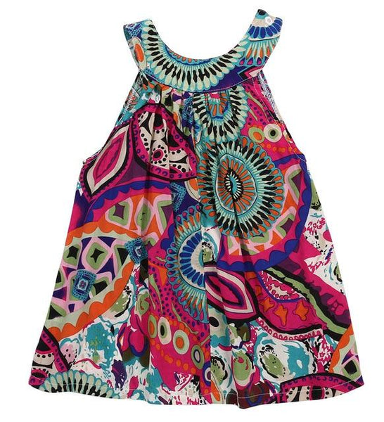 Toddler Kid Baby Girl Dress Summer Boho Cotton Crochet Sleeveless Dress Princess Party Pageant Clothes