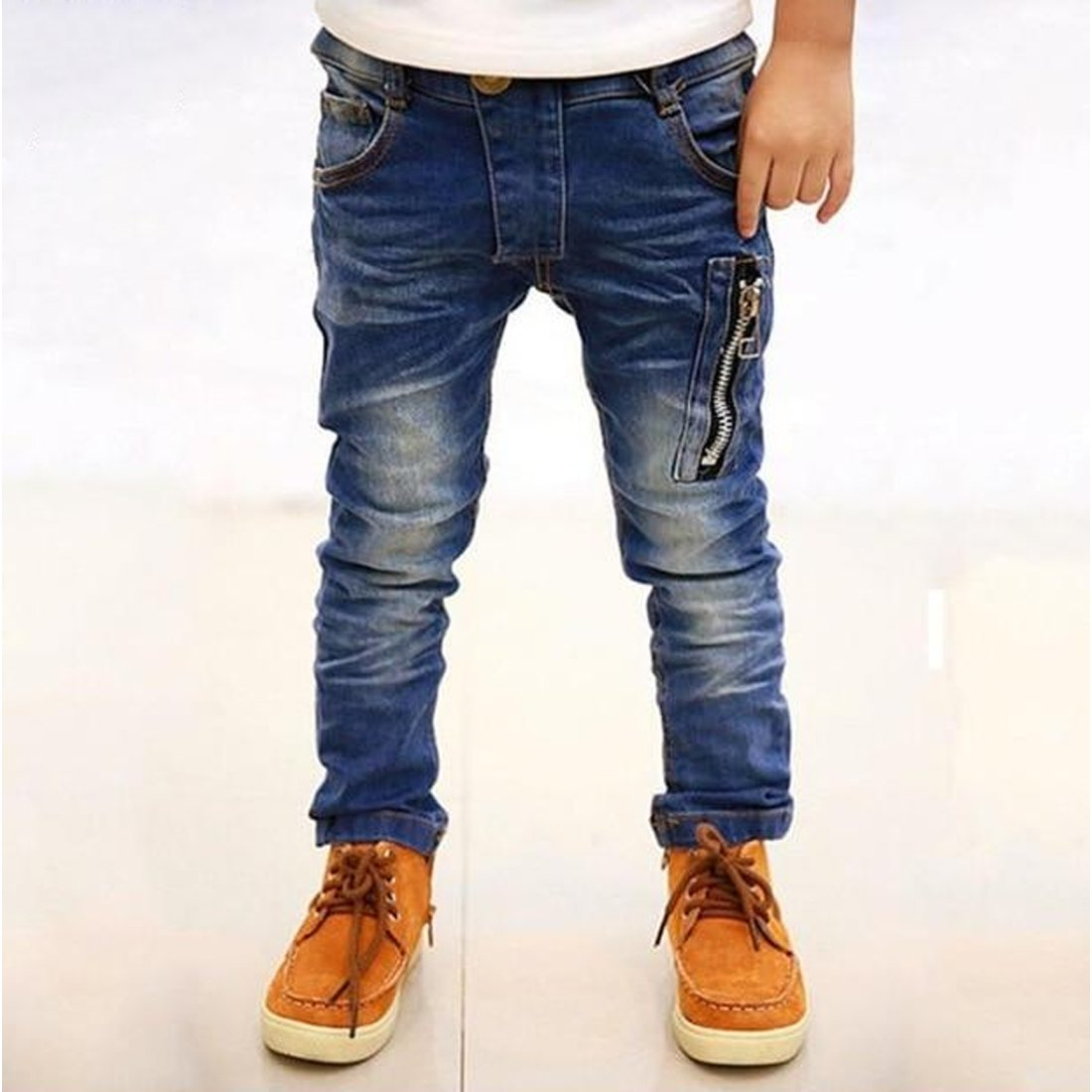 Boys Jeans Pants 2019 Fashion Boys Jeans For Spring Autumn Children's Denim Trousers Kids Dark Blue Designed Pant