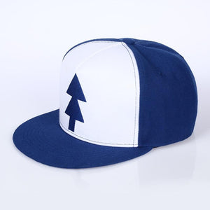 Cap BLUE PINE TREE Hat Cartoon Hip hop Snapback Cap New Curved Bill Dipper Adult Men Hat