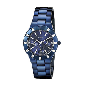 Guess Glisten Blue Tone Stainless Steel Women Watch W0027L3
