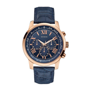 Guess Chronograph Blue Dial Stainless Steel Men Watch W0380G5