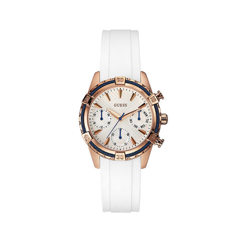Guess Fashion White Analog Women Watch W0562L1