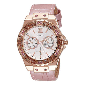 Guess Pink Dial Rose Gold-Tone Women Watch W0775L3