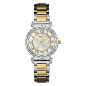 Guess South Hampton Mother of Pearl Dial Women Watch W0831L3