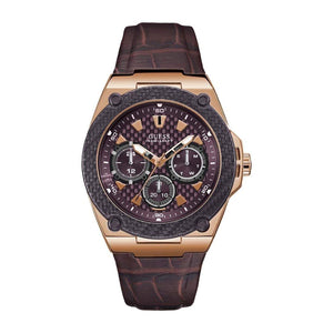 Guess Multifunction Brown Leather Strap Men Watch W1058G2